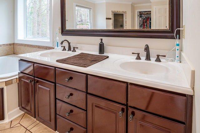 bathroom cupboard painting bathroom vanity restoration